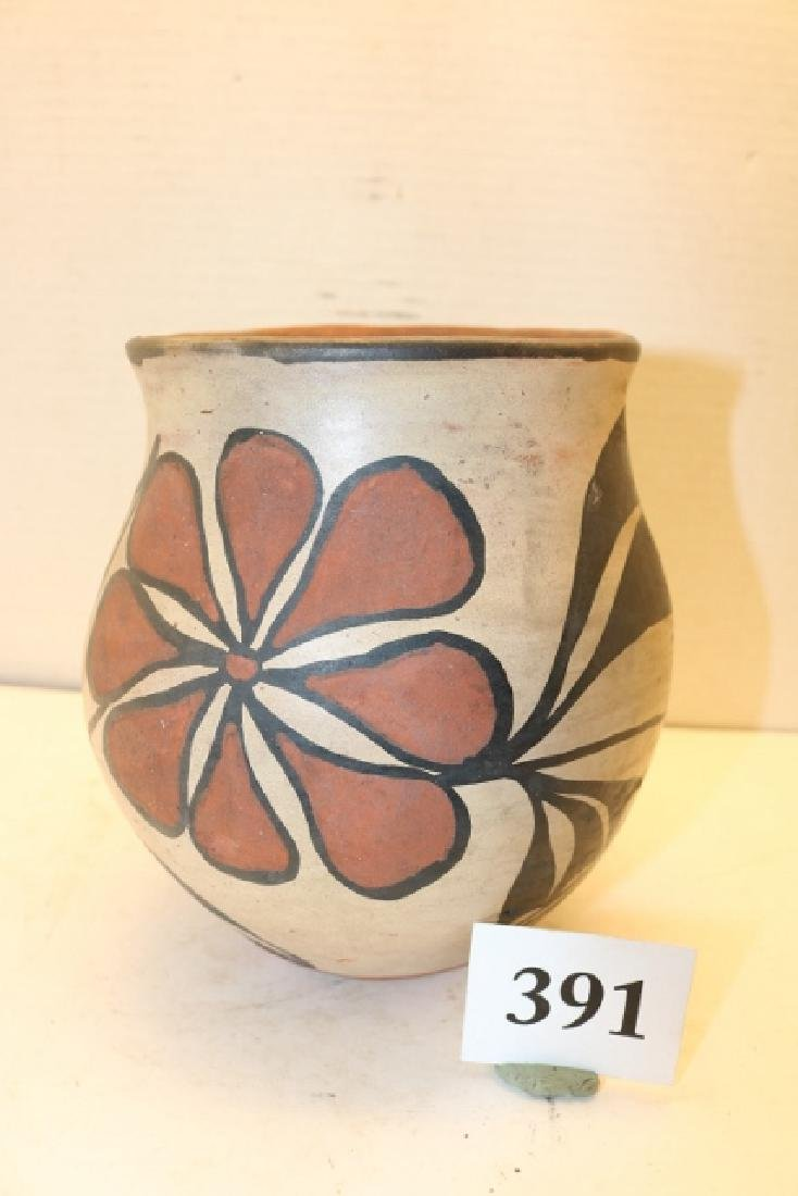 Polychrome Santa Domingo Pottery Jar - 2