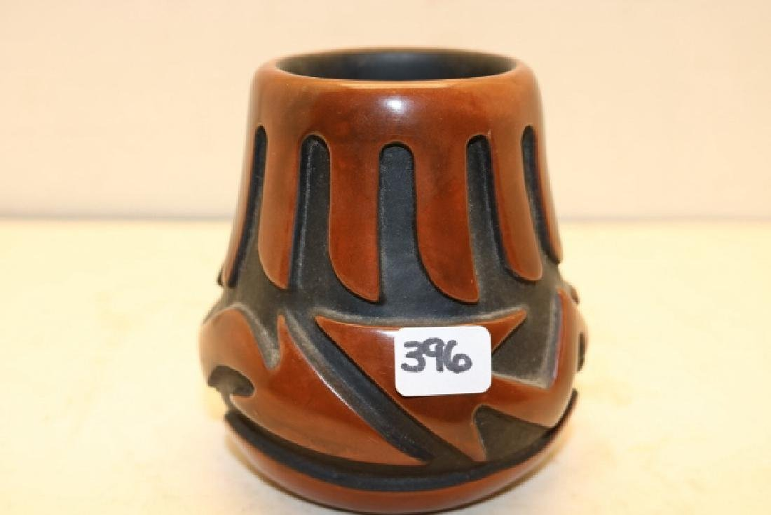 Carved San Idlefonso Small Vase