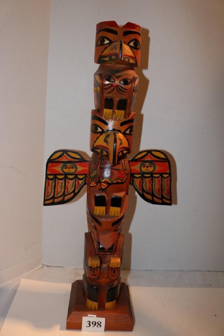 Cedar Polychrome Totem Pole