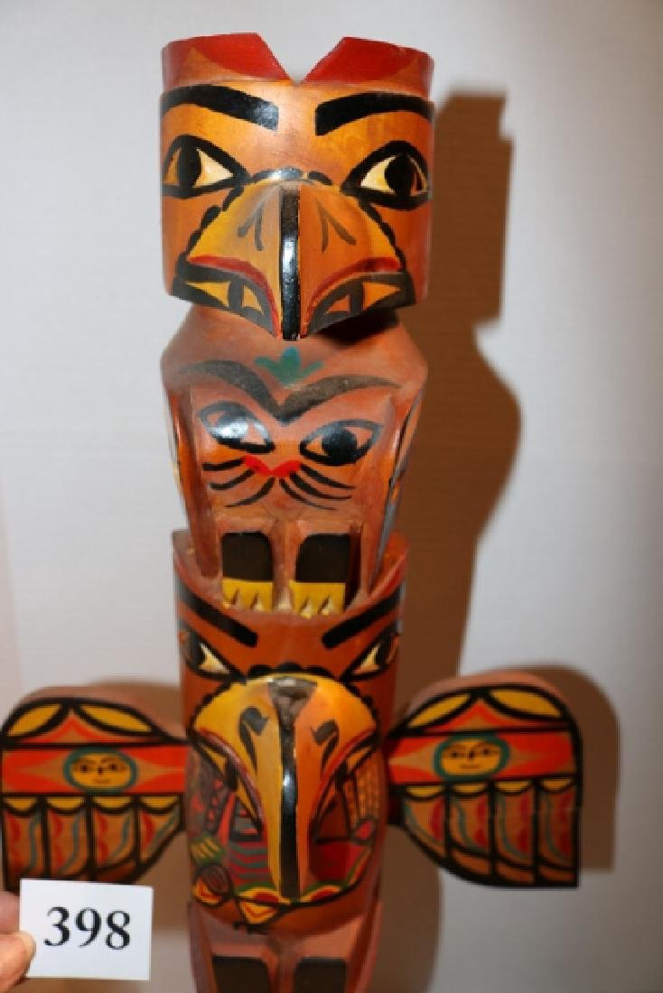 Cedar Polychrome Totem Pole - 2