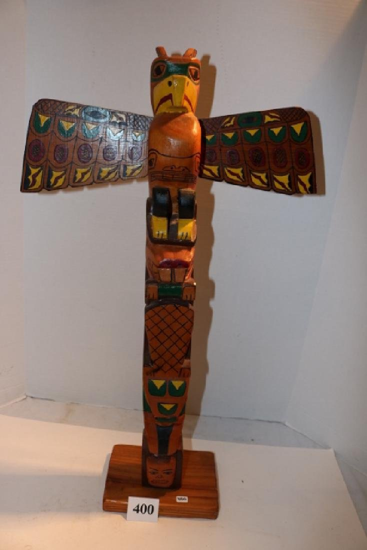 Polychrome Painted Totem Pole