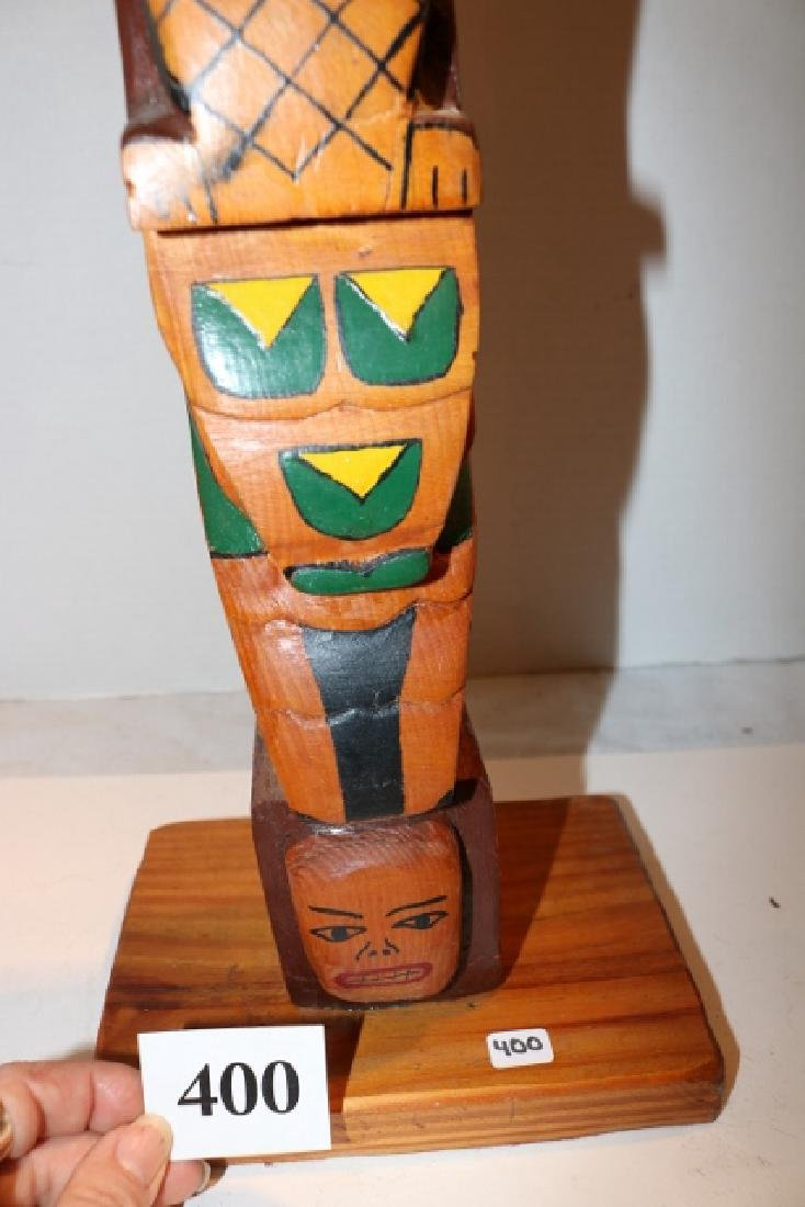 Polychrome Painted Totem Pole - 3