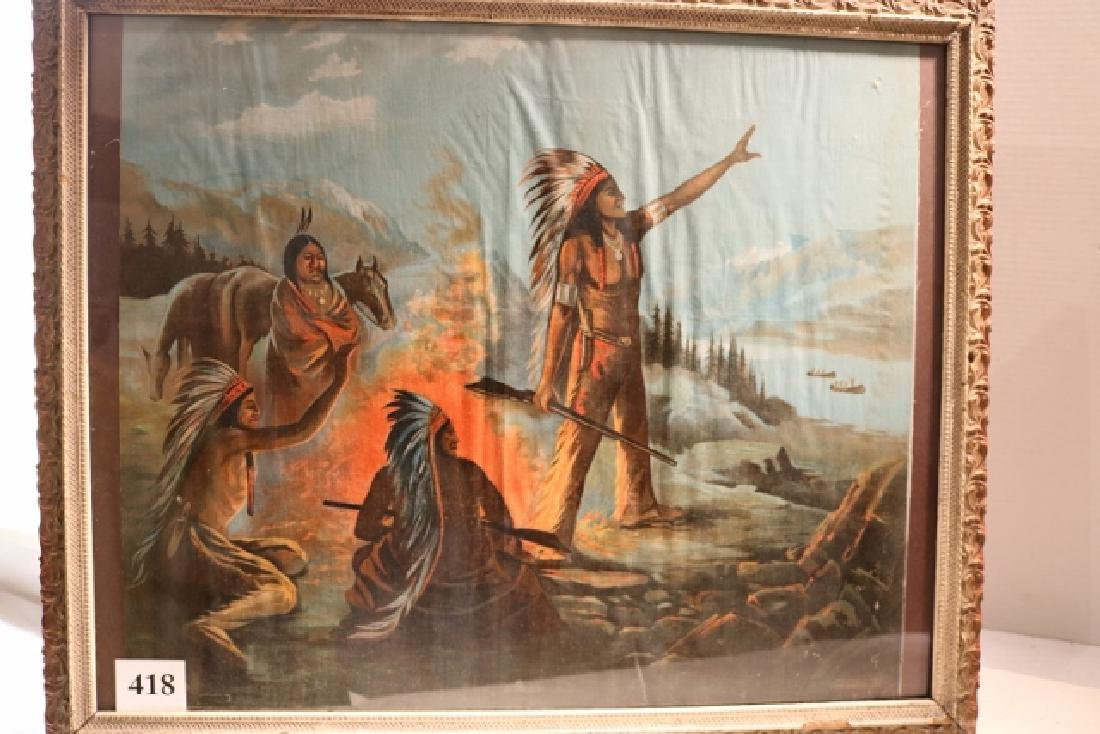 Framed Painted Cloth Print