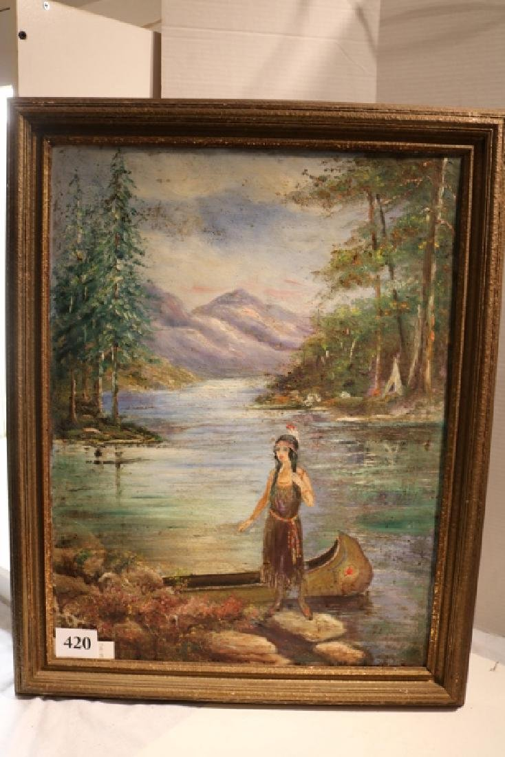 Indian Maiden Painting