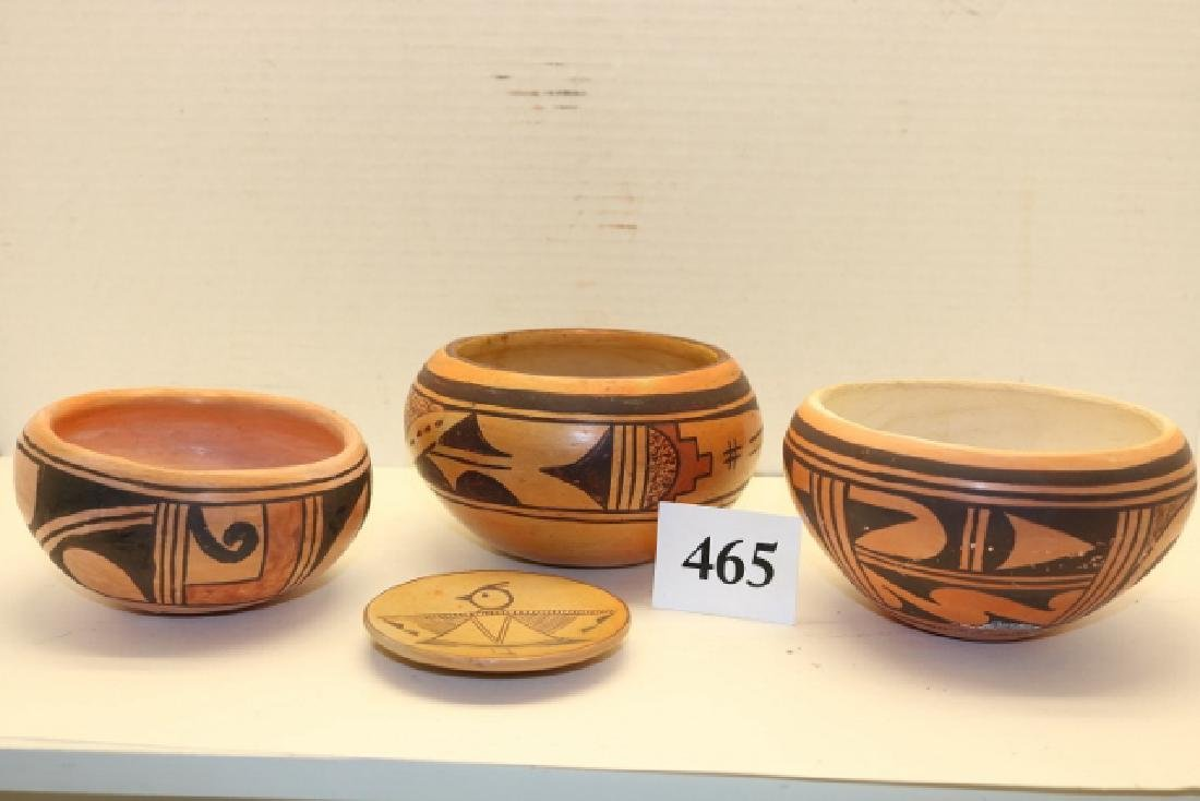 4 Pcs. Hopi Pottery