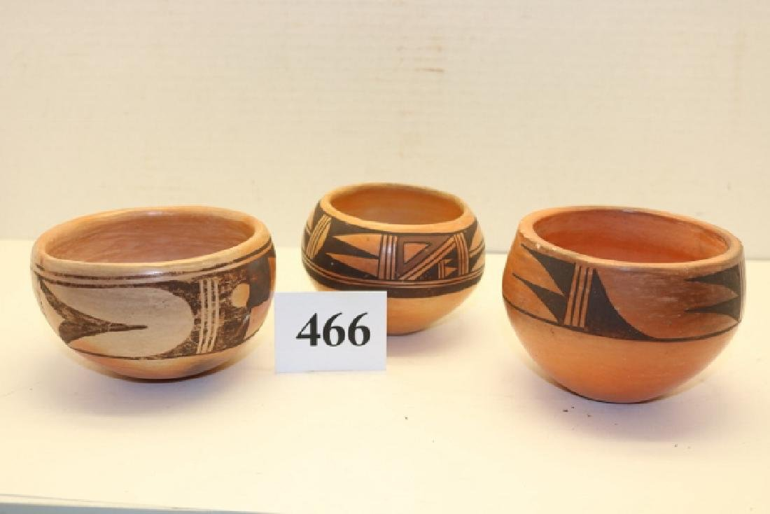 3 Pcs. Hopi Pottery