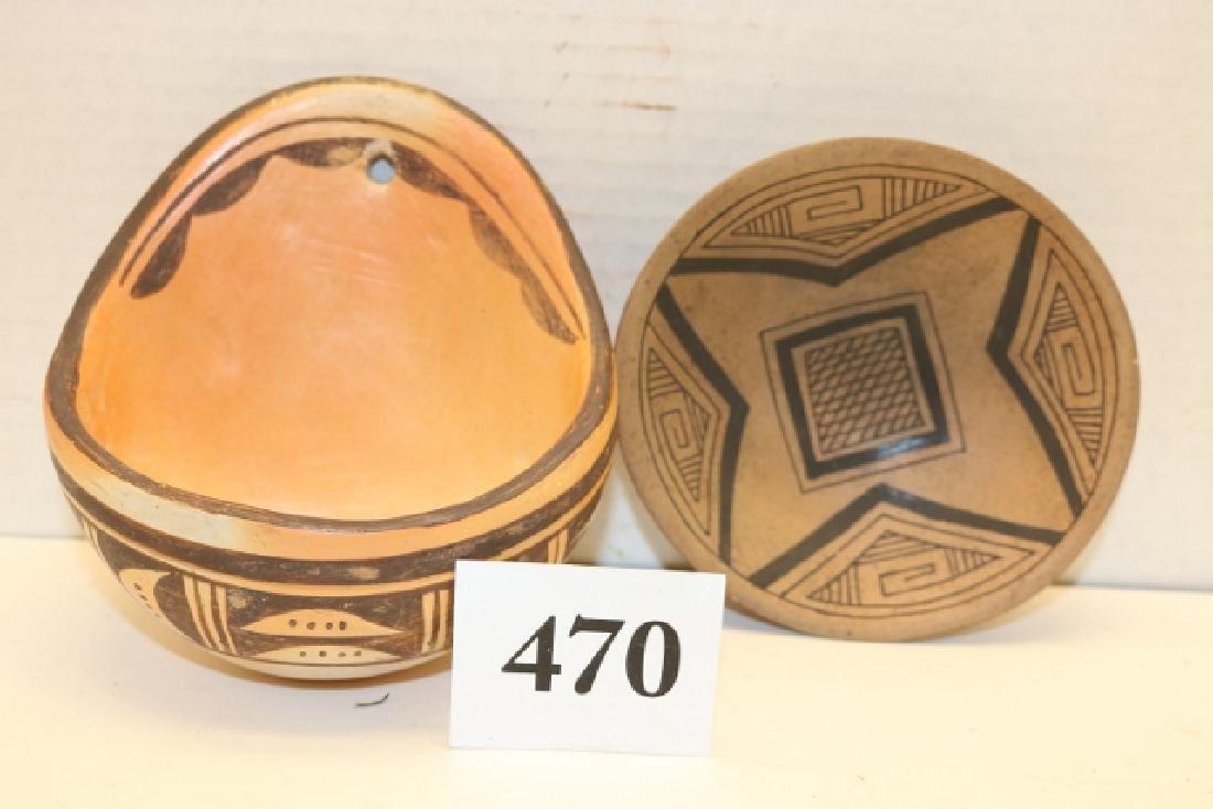 3 Hopi Pottery Items: Bear Effigy - 2