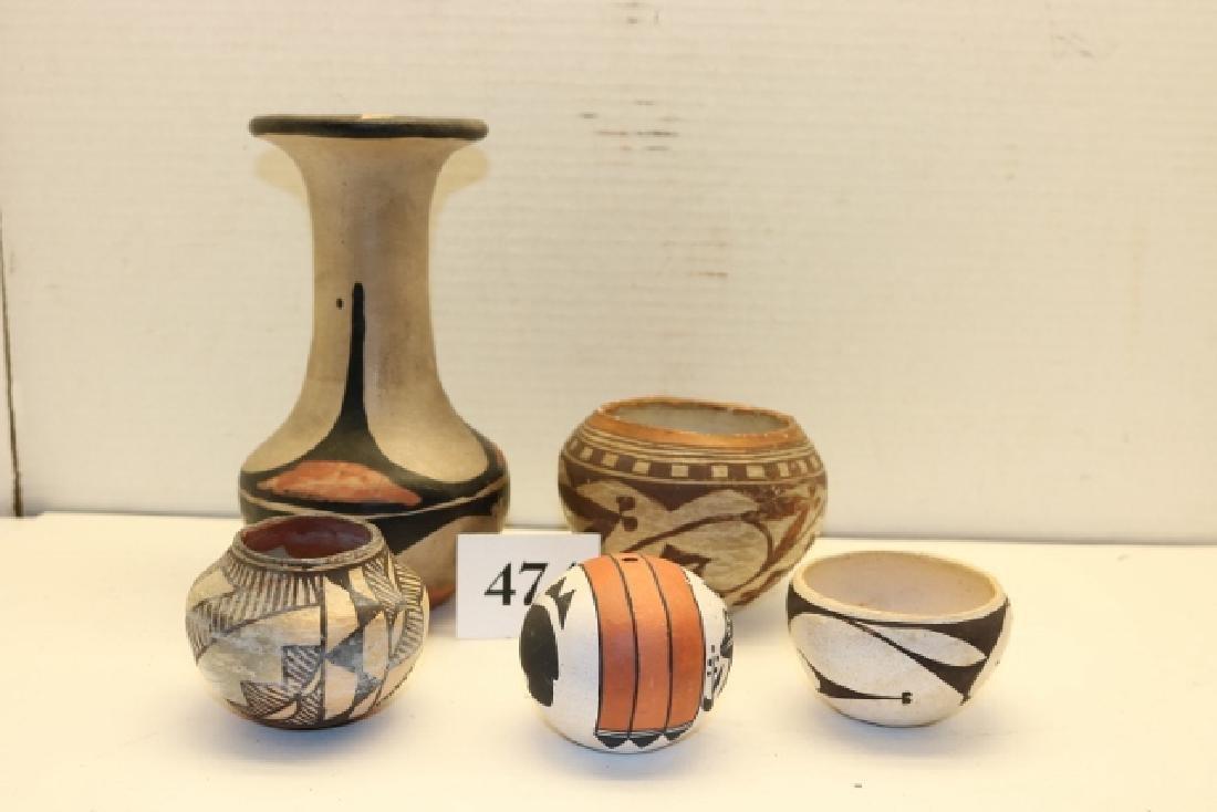 4 Small Acoma Pots –  Polychrome Vase