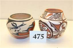 2 Zuni Polychrome Pottery Bowl – Olla