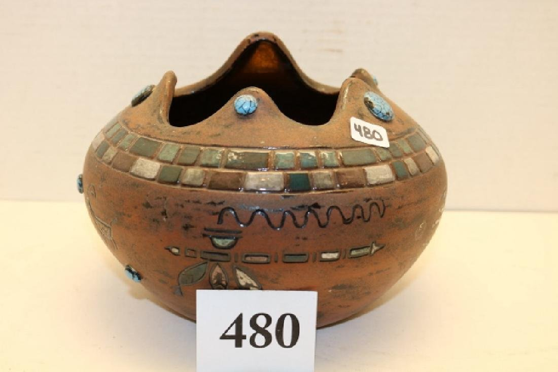 EGO Pottery with pictographs Bowl