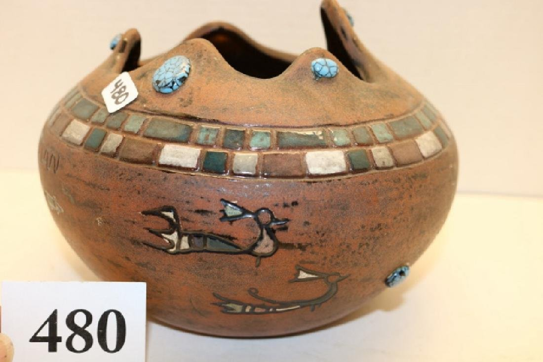 EGO Pottery with pictographs Bowl - 2