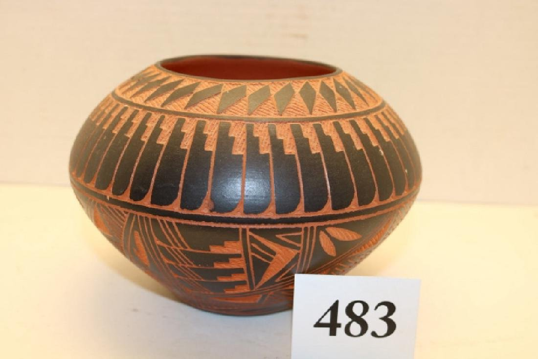 Polychrome Feather Decorated Olla