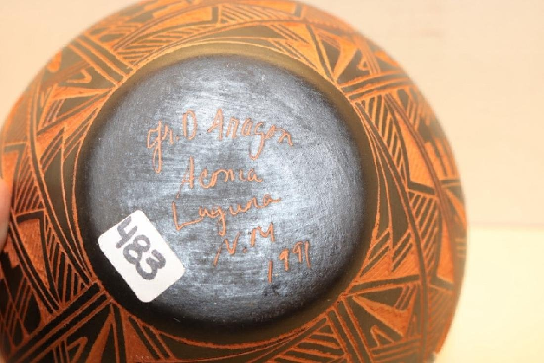 Polychrome Feather Decorated Olla - 2