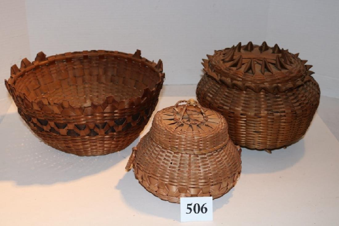 3 Plaited Baskets
