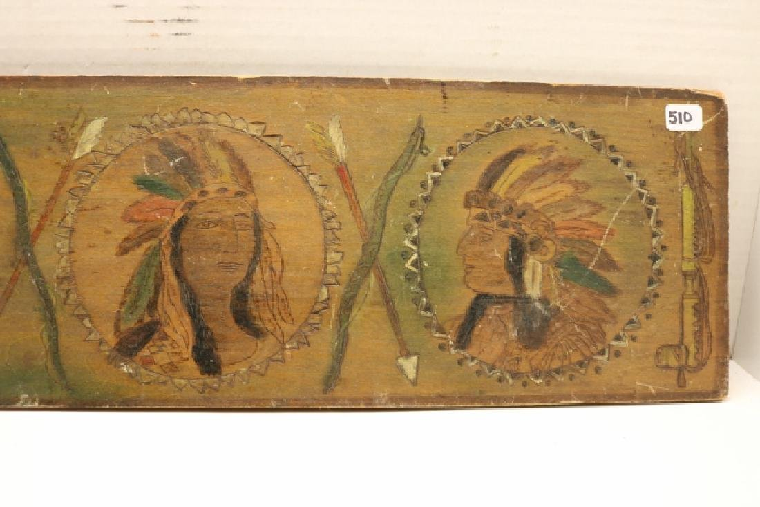 """6"""" x 19"""" Pyro Indian Plaque - 3"""