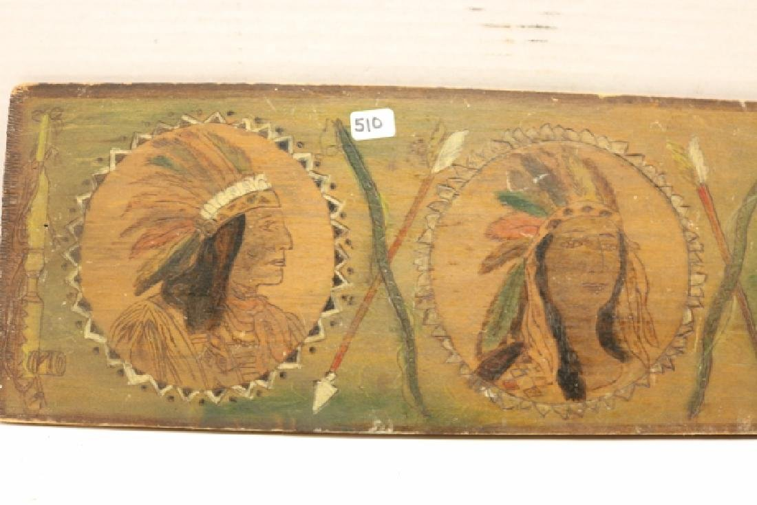 """6"""" x 19"""" Pyro Indian Plaque - 4"""