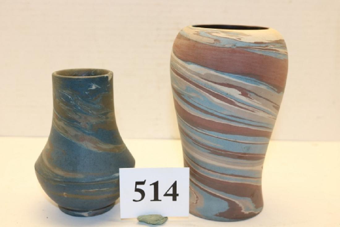 (2) Vases – Niloak Pottery
