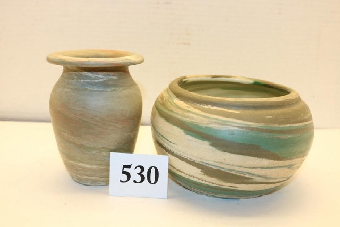 2 Pcs. Pottery, (1) Niloak, 1 Desert Sands