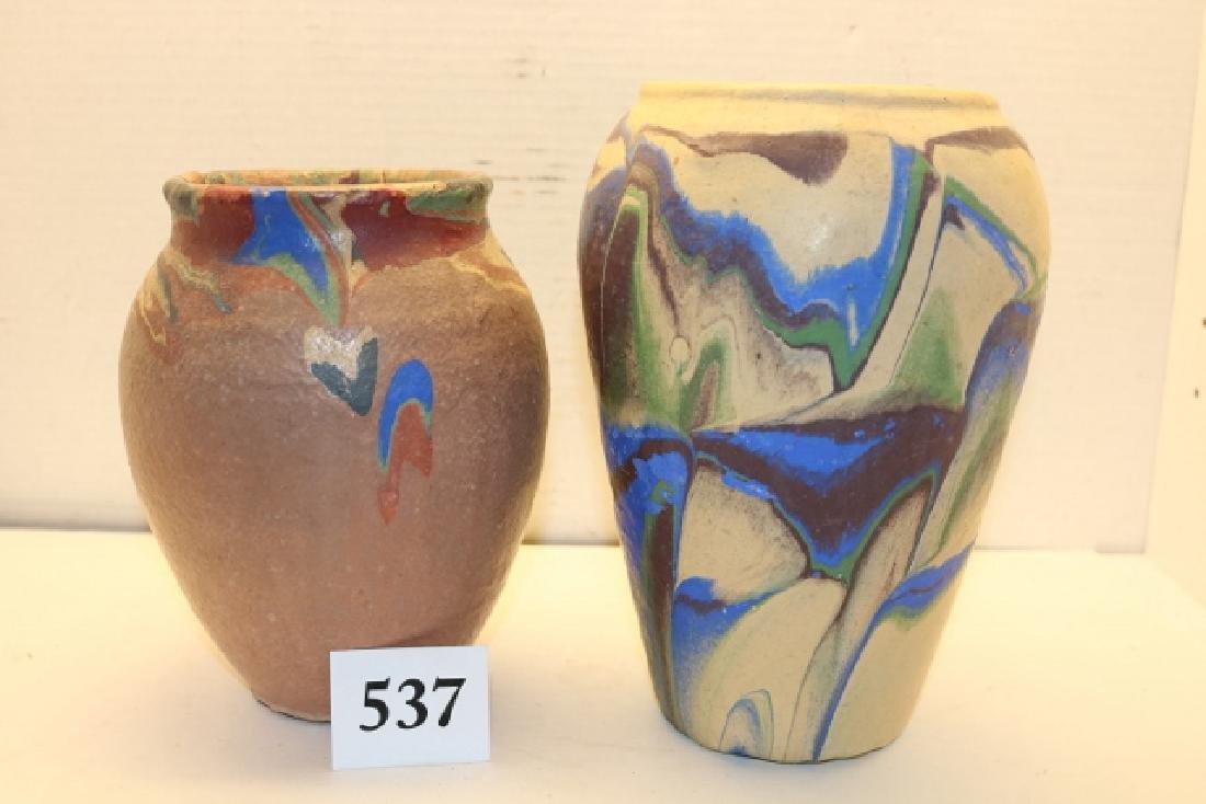 2 Pcs. Pottery Vases