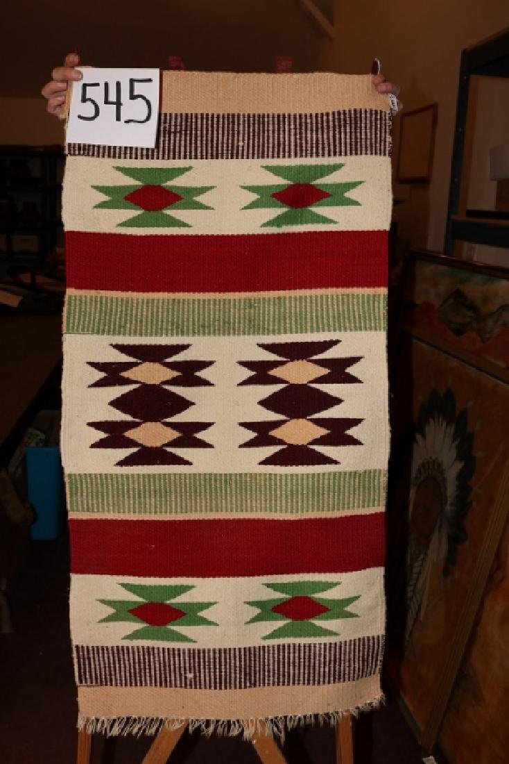 """38"""" x 19"""" Mexican Rug"""