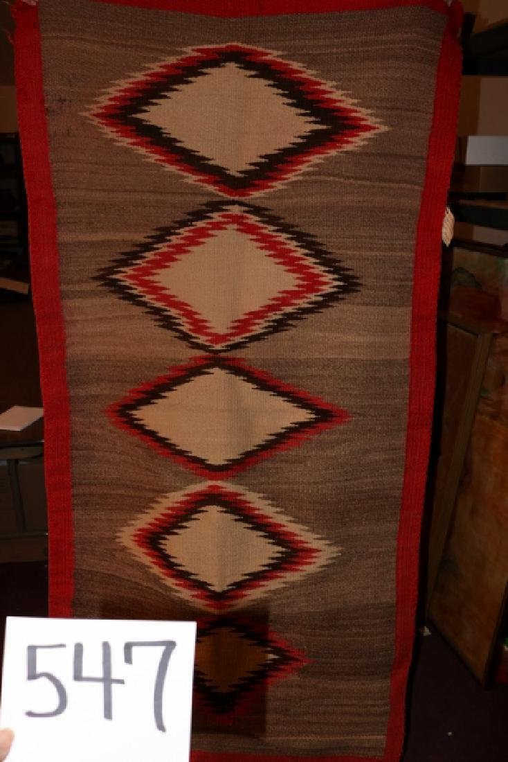 "68"" x 35"" Navajo Rug"