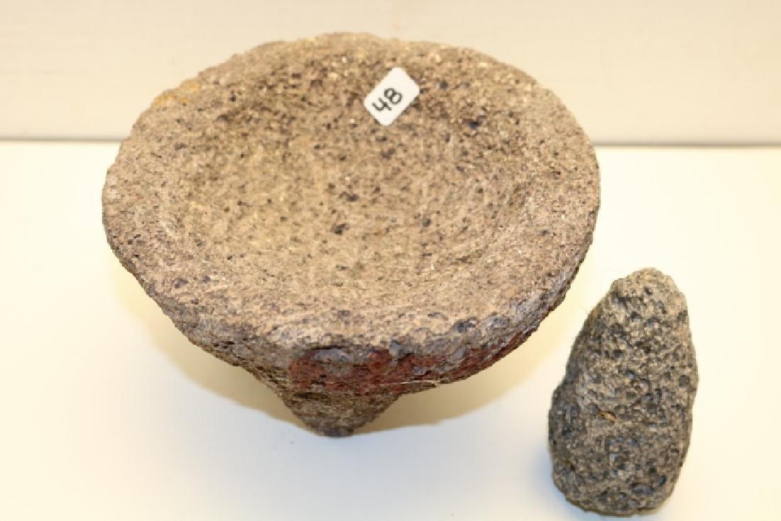 Stone Metate with Mono