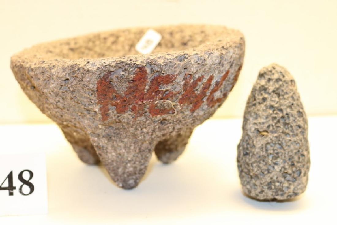 Stone Metate with Mono - 2
