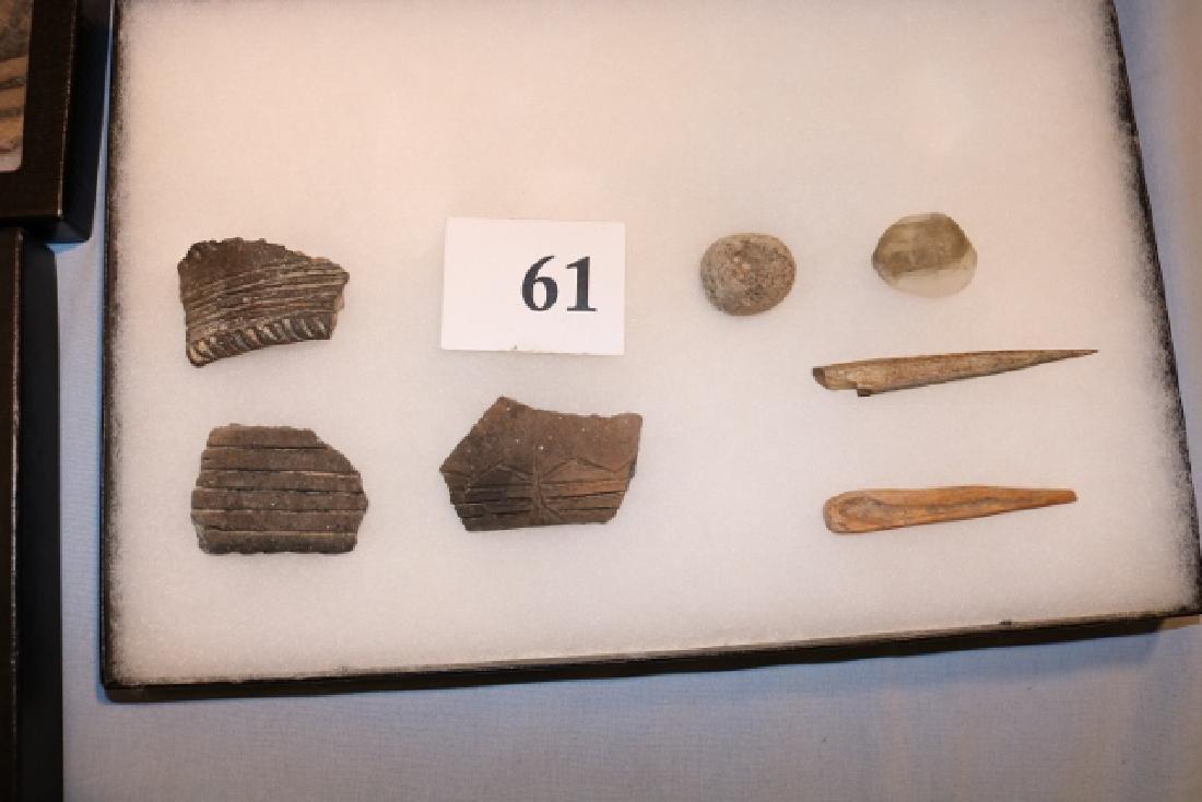 3 Frames Flints, Shards, Bone Tools - 2