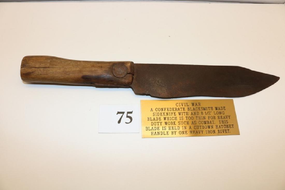 Confederate Blacksmith Side Knife - 3
