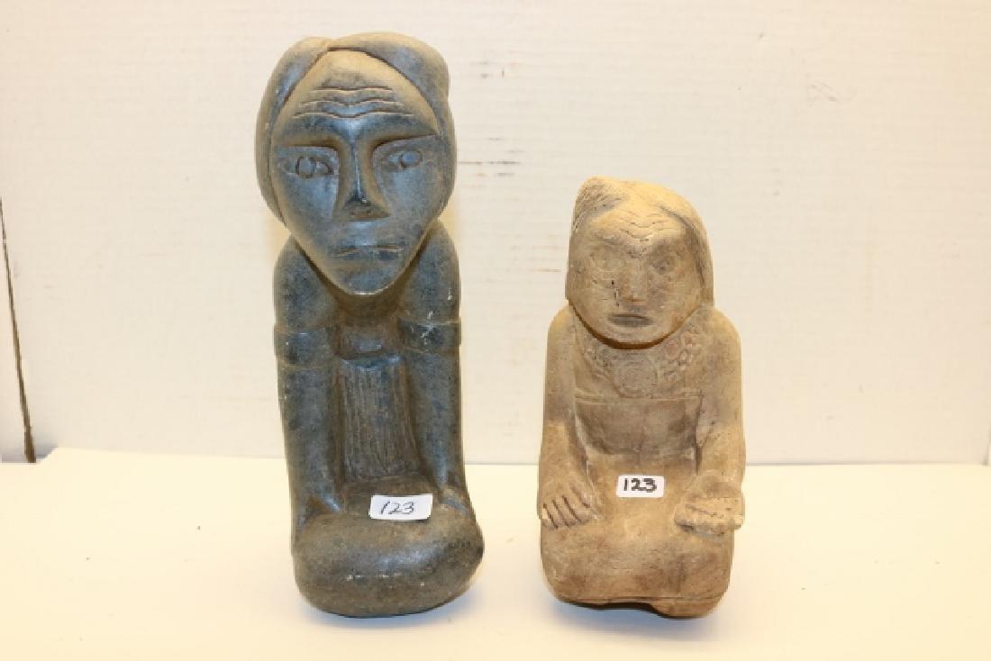 2 Stone Figures