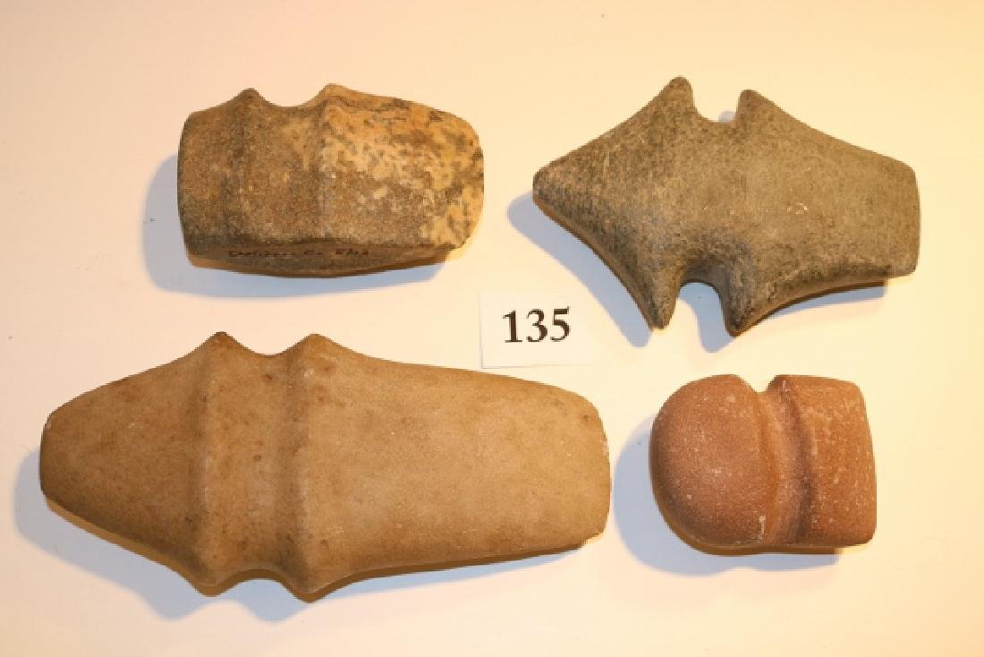 4 Assorted Stone Axes