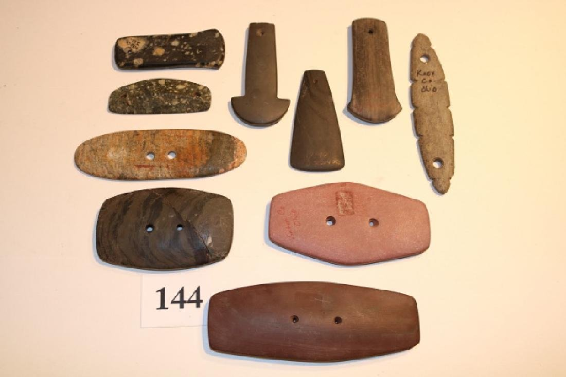 10 Assorted Stone Pendants – Gorgets