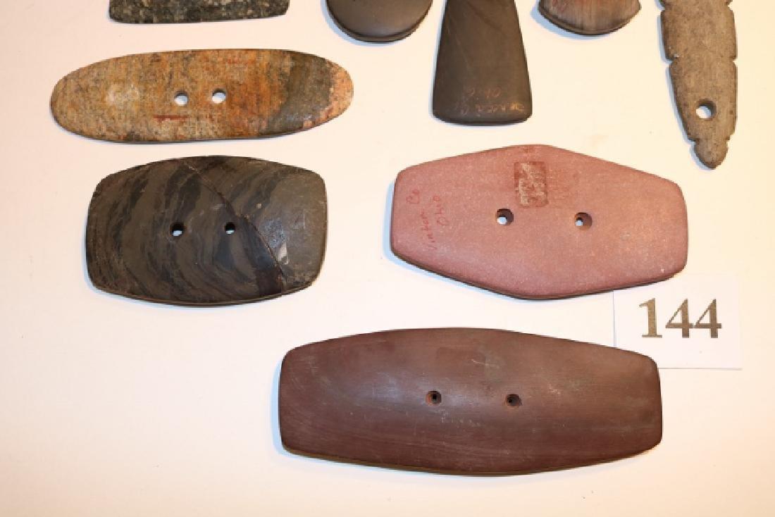 10 Assorted Stone Pendants – Gorgets - 3