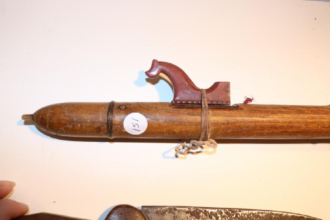 Hand Carved Wooden Plains Flute