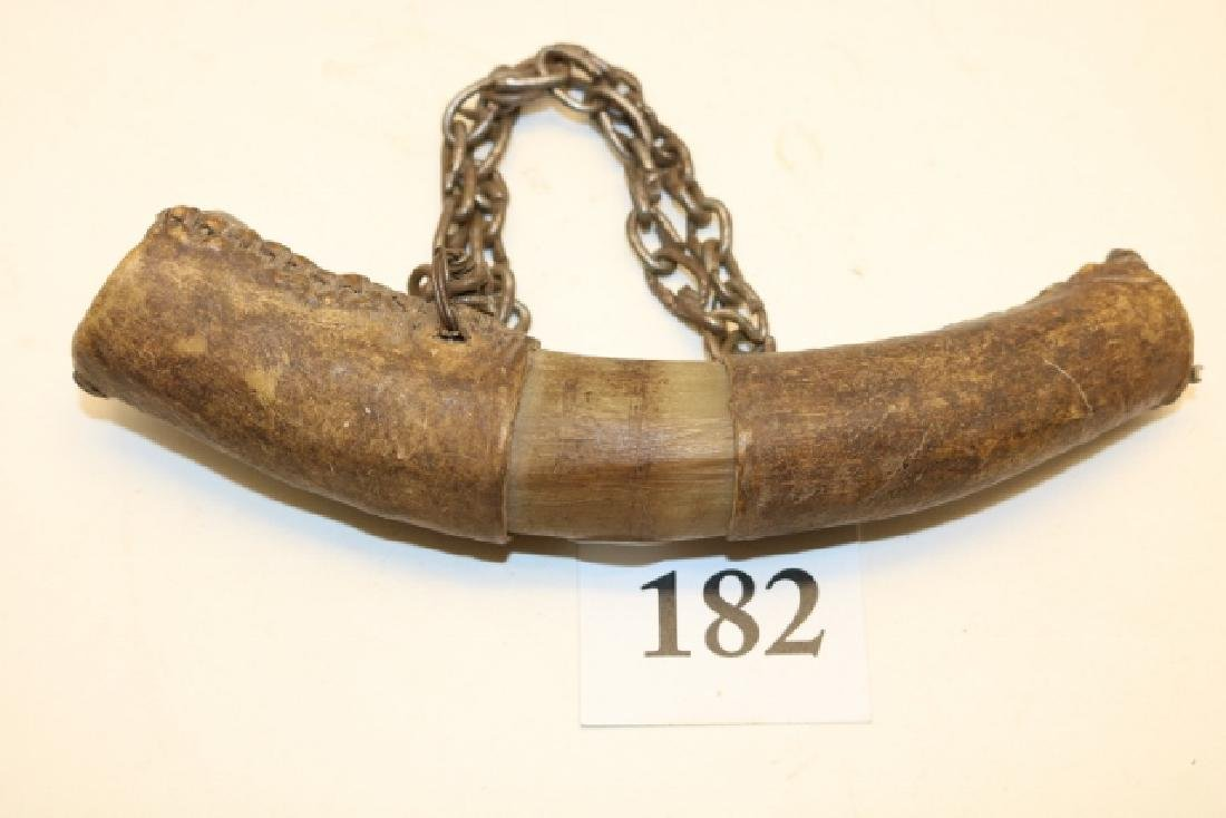Rawhide Covered Apache Powder Horn