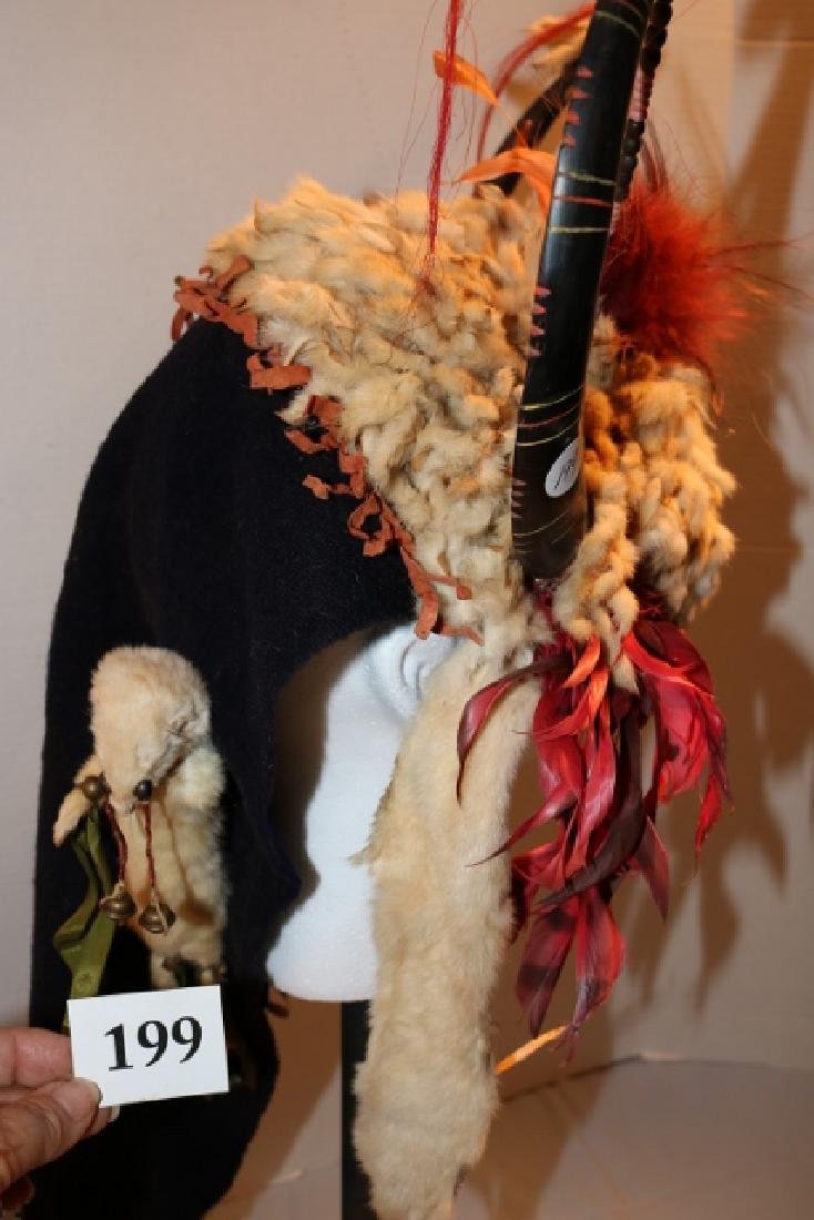 Ermine Split Horn Headdress-NO SHIPPING OUT OF COUNTRY - 3