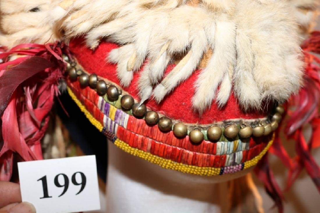 Ermine Split Horn Headdress-NO SHIPPING OUT OF COUNTRY - 6
