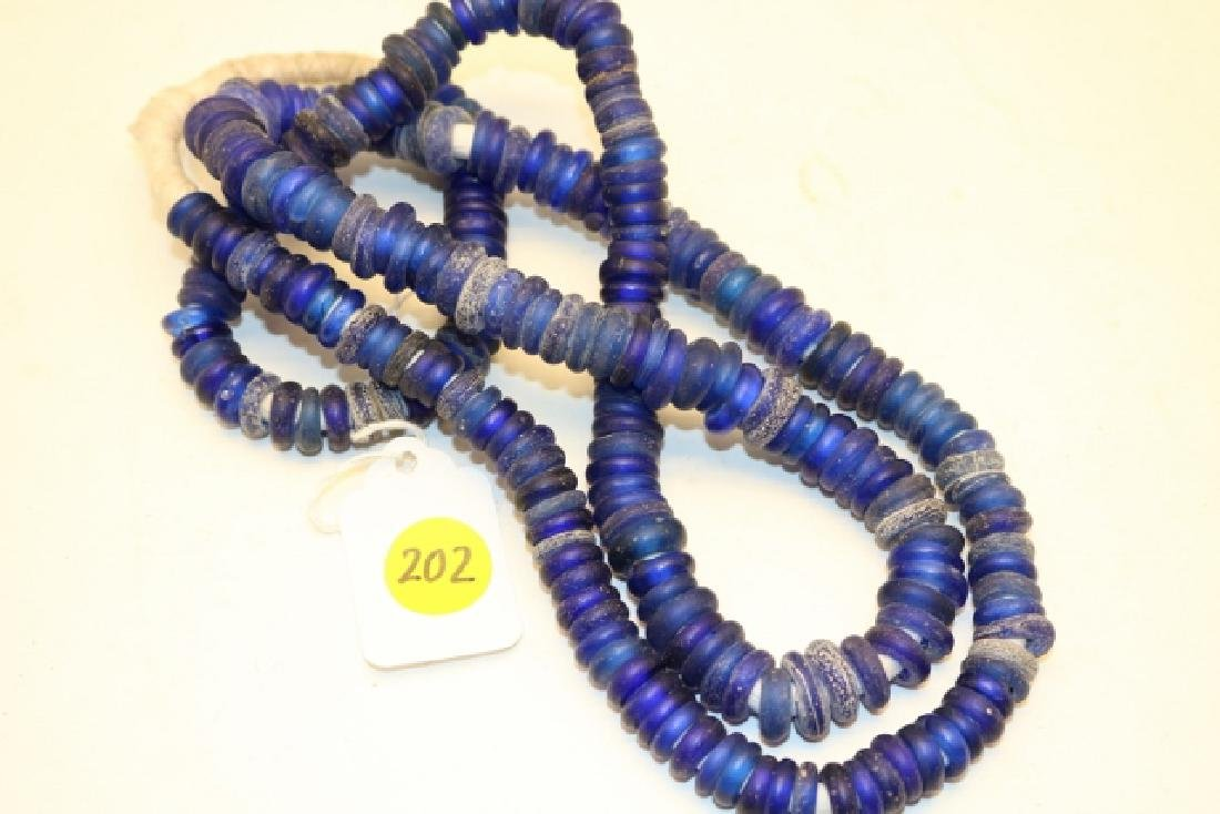 Strand of Cobalt Blue Button Style Trade Beads