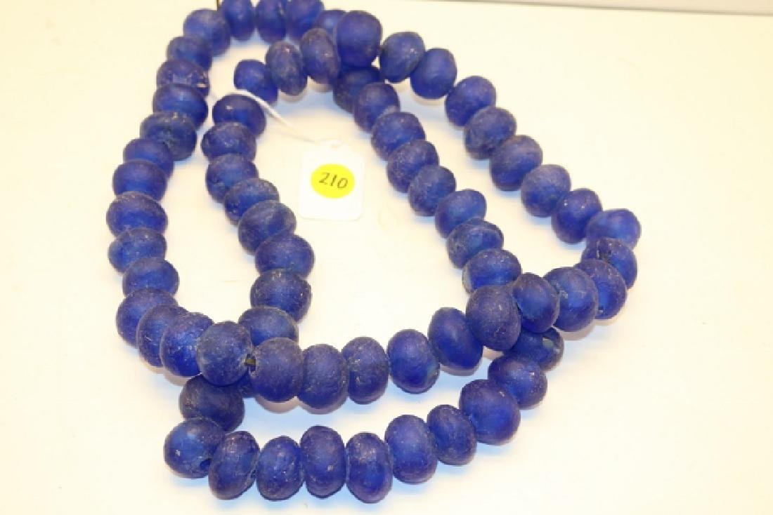 Strand of Large Blue Glass Trade Beads