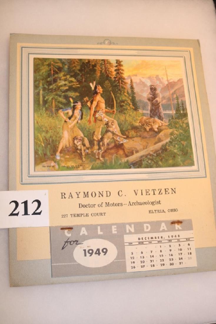 1949 Calendar Raymond C. Viezten - 2