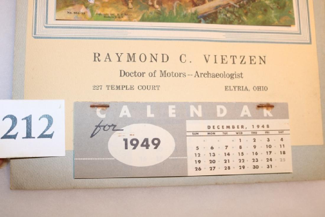 1949 Calendar Raymond C. Viezten - 3