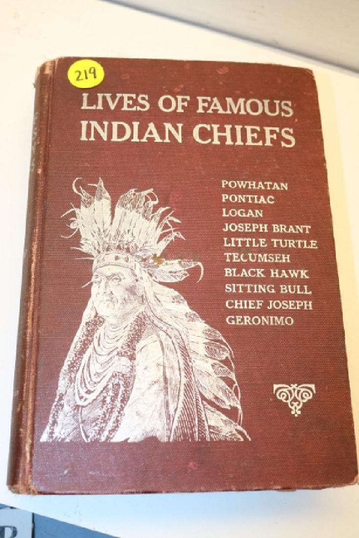 Book! First Edition 1906, Lives of famous Indian Chiefs