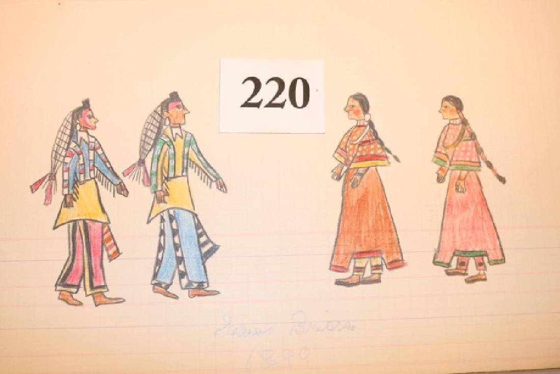 Ledger Drawing Sioux Brides