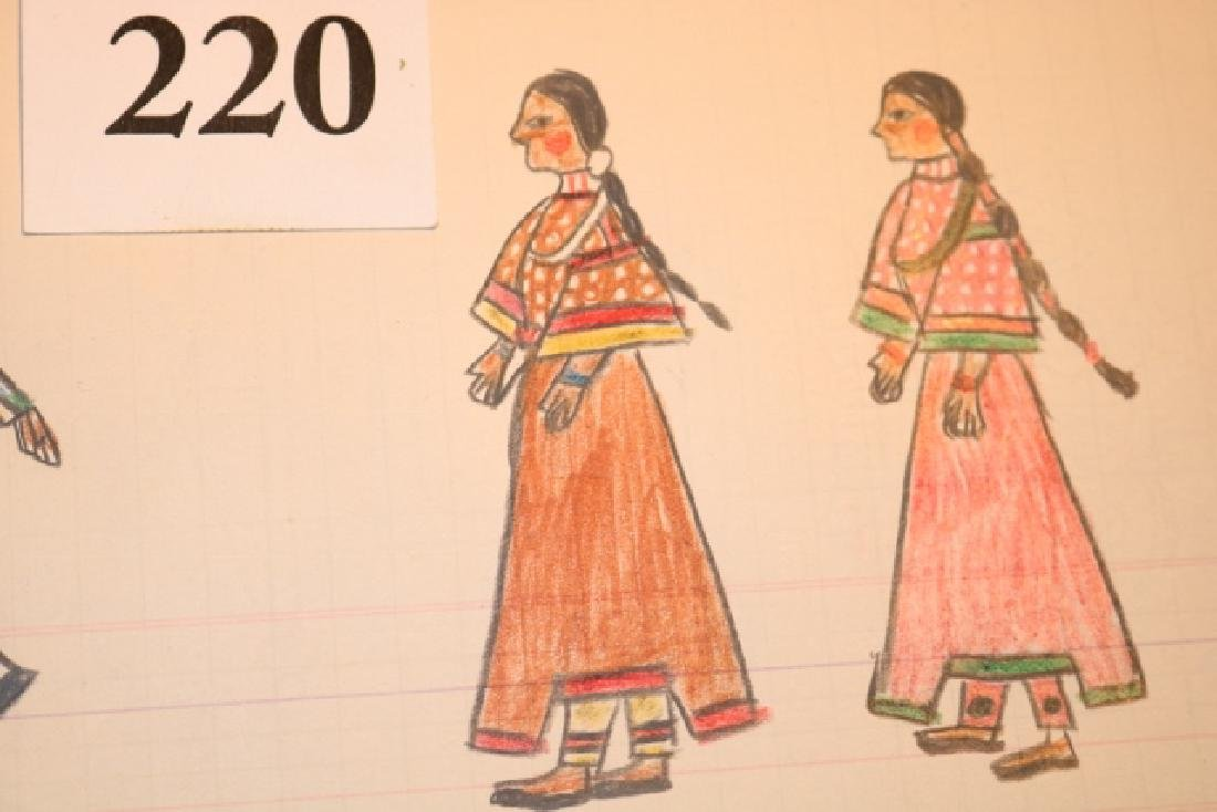 Ledger Drawing Sioux Brides - 2