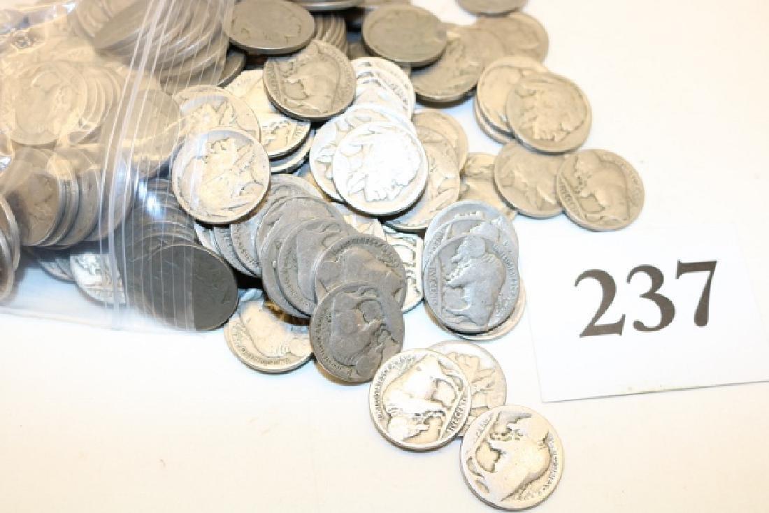 (200) Assorted Buffalo Nickels