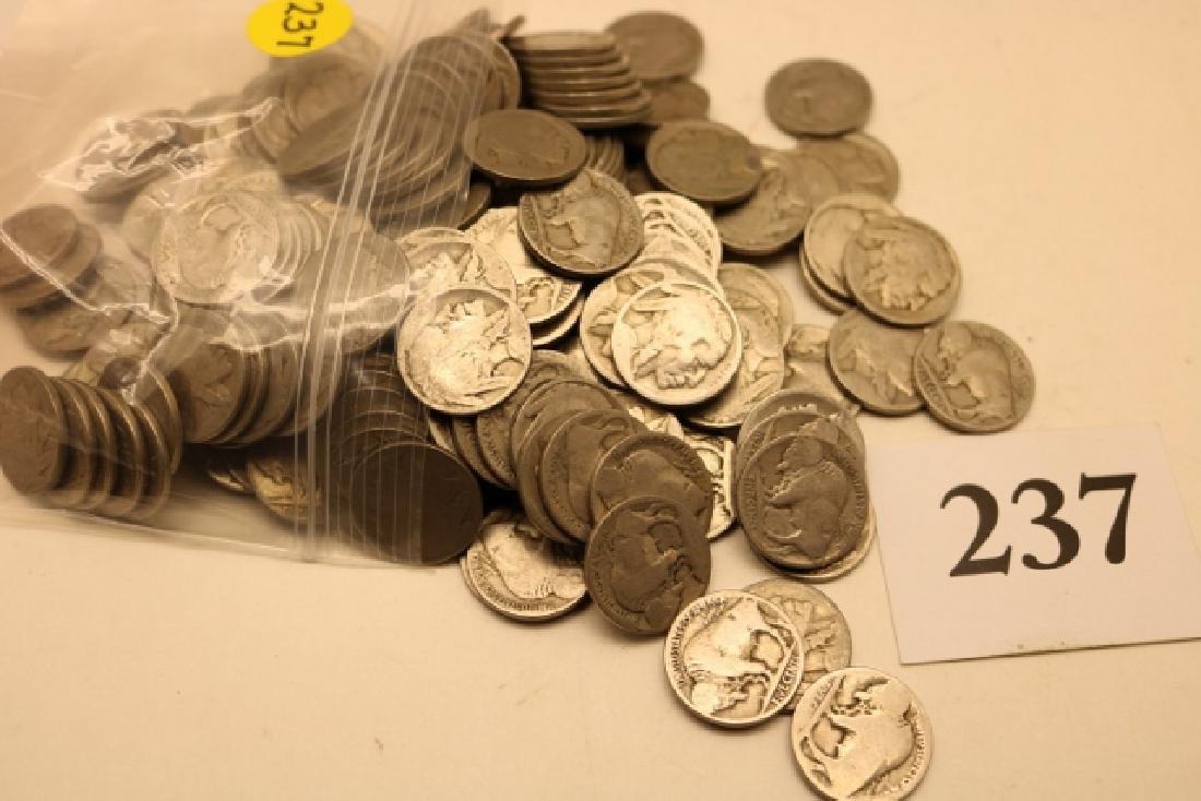 (200) Assorted Buffalo Nickels - 2