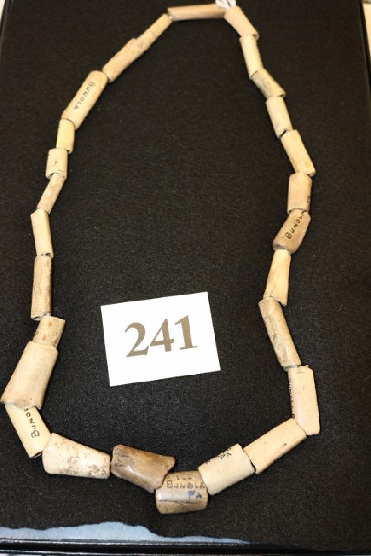 Strand of Cut Bone Beads