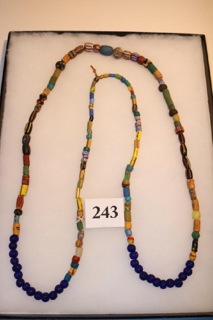 Strand of Mixed Variety Colorful Trade Beads