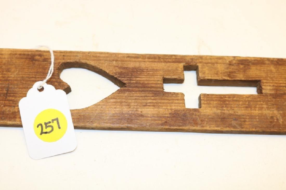 Cut Out Wood Prayer Stick - 2