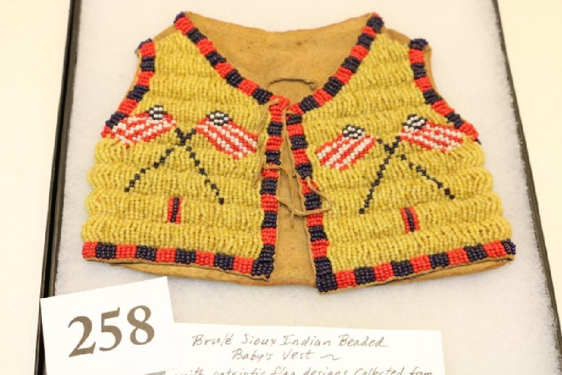 Brule Sioux Patriotic Beaded Infant's Vest
